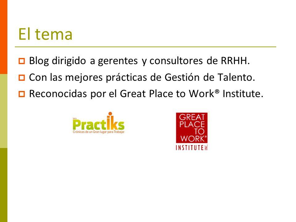 El tema Blog dirigido a gerentes y consultores de RRHH.