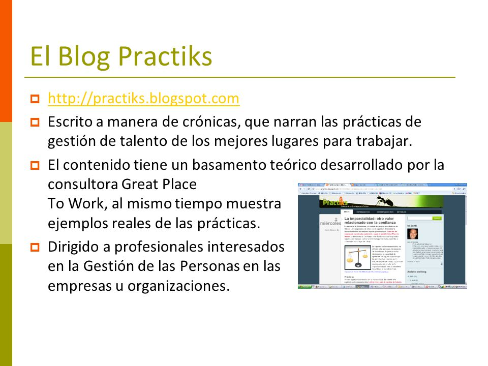 El Blog Practiks http://practiks.blogspot.com