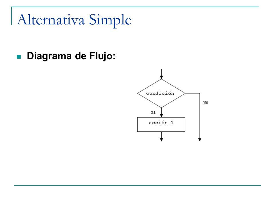 Alternativa Simple Diagrama de Flujo: