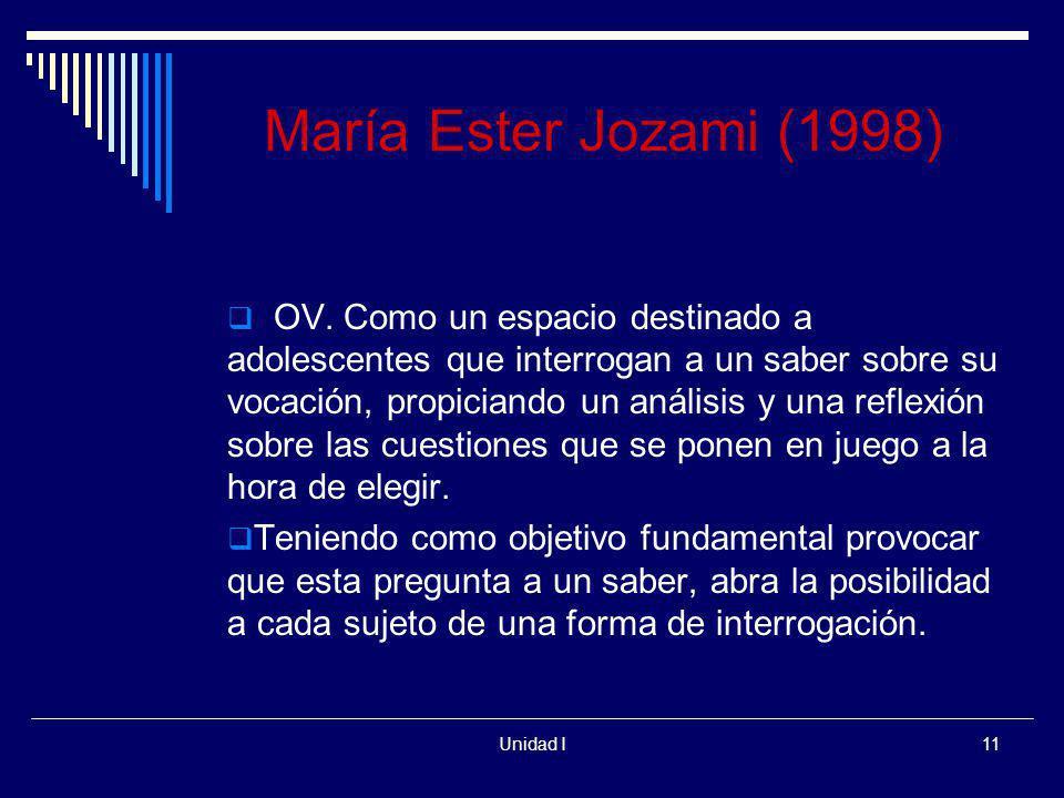 María Ester Jozami (1998)