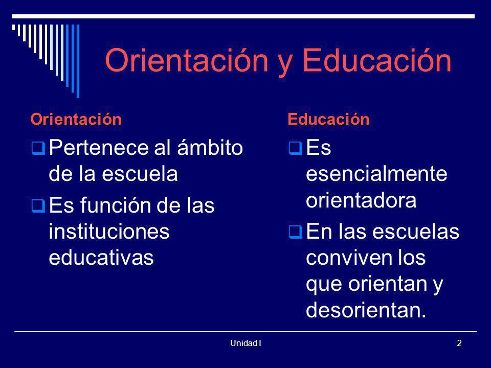 Orientación y Educación