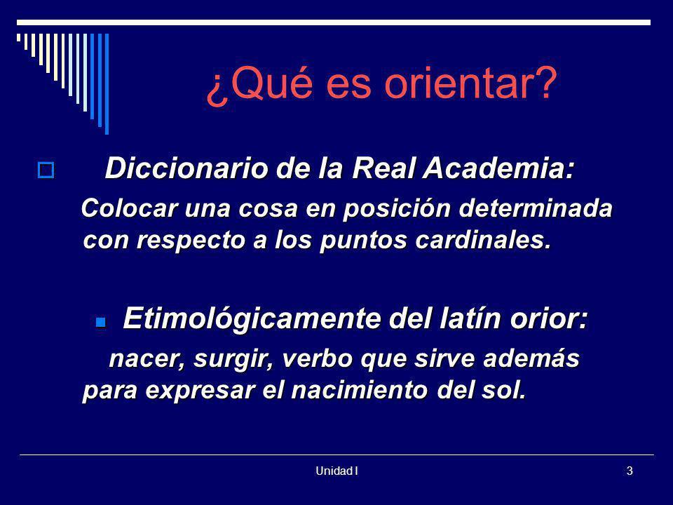¿Qué es orientar Diccionario de la Real Academia: