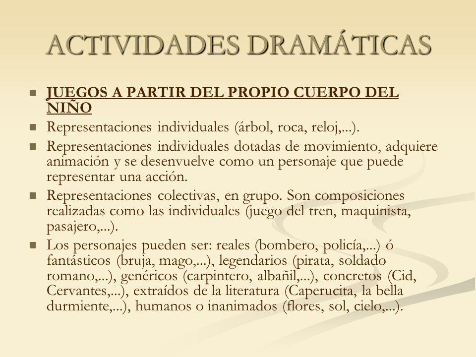 ACTIVIDADES DRAMÁTICAS