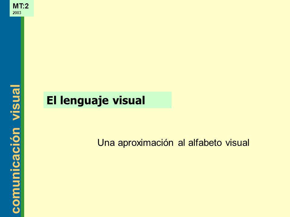 Una aproximación al alfabeto visual