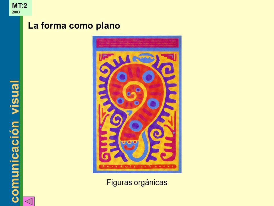 La forma como plano Figuras orgánicas