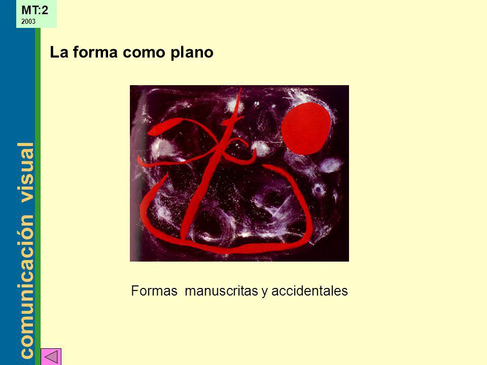 La forma como plano Formas manuscritas y accidentales