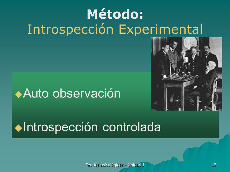 Método: Introspección Experimental