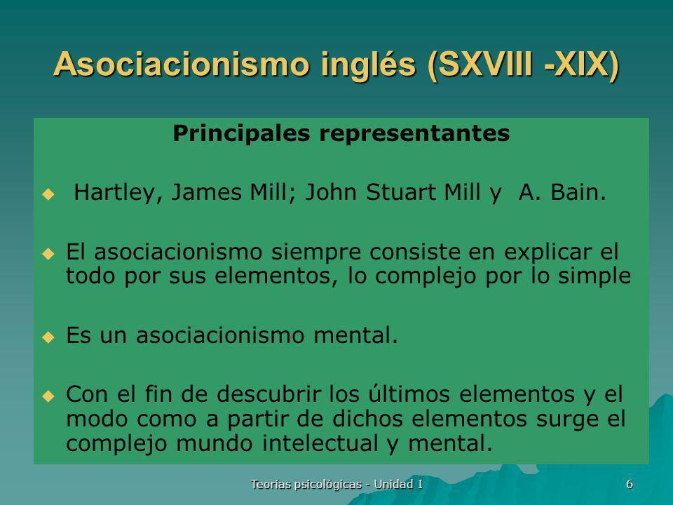Asociacionismo inglés (SXVIII -XIX)