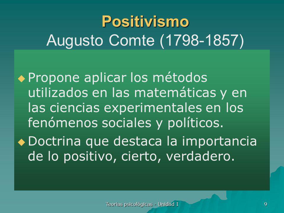 Positivismo Augusto Comte (1798-1857)