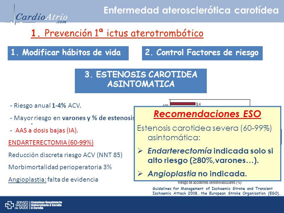 3. ESTENOSIS CAROTIDEA ASINTOMATICA