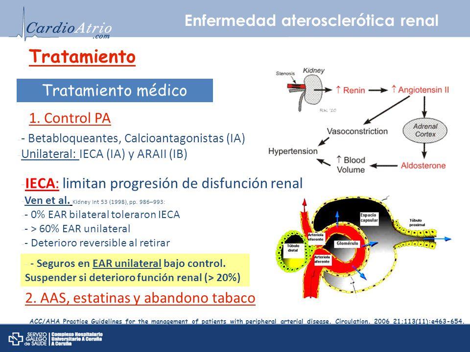 Tratamiento Enfermedad aterosclerótica renal Tratamiento médico