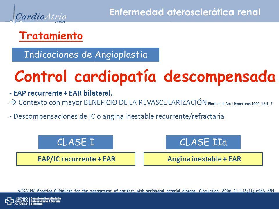 Control cardiopatía descompensada