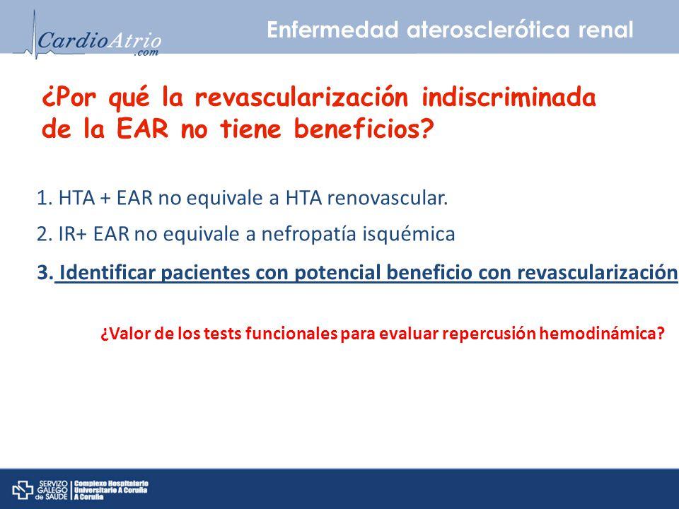 3. Identificar pacientes con potencial beneficio con revascularización