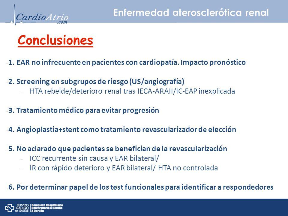 Conclusiones Enfermedad aterosclerótica renal