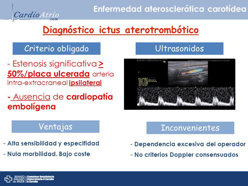 Diagnóstico ictus aterotrombótico