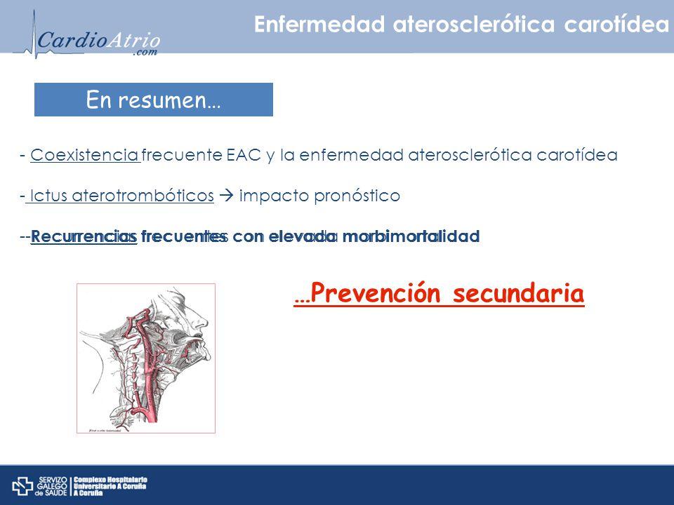 …Prevención secundaria
