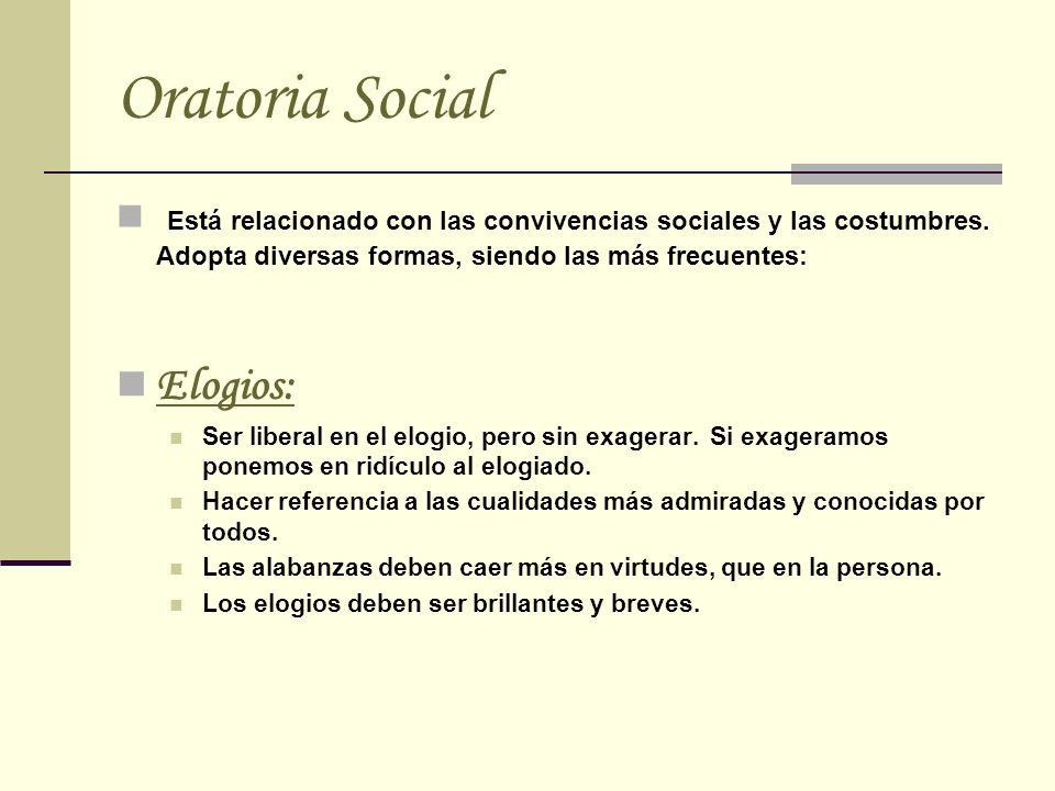 Oratoria Social Elogios: