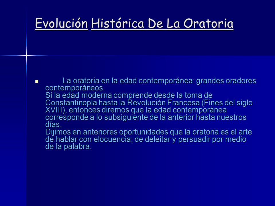 Evolución Histórica De La Oratoria