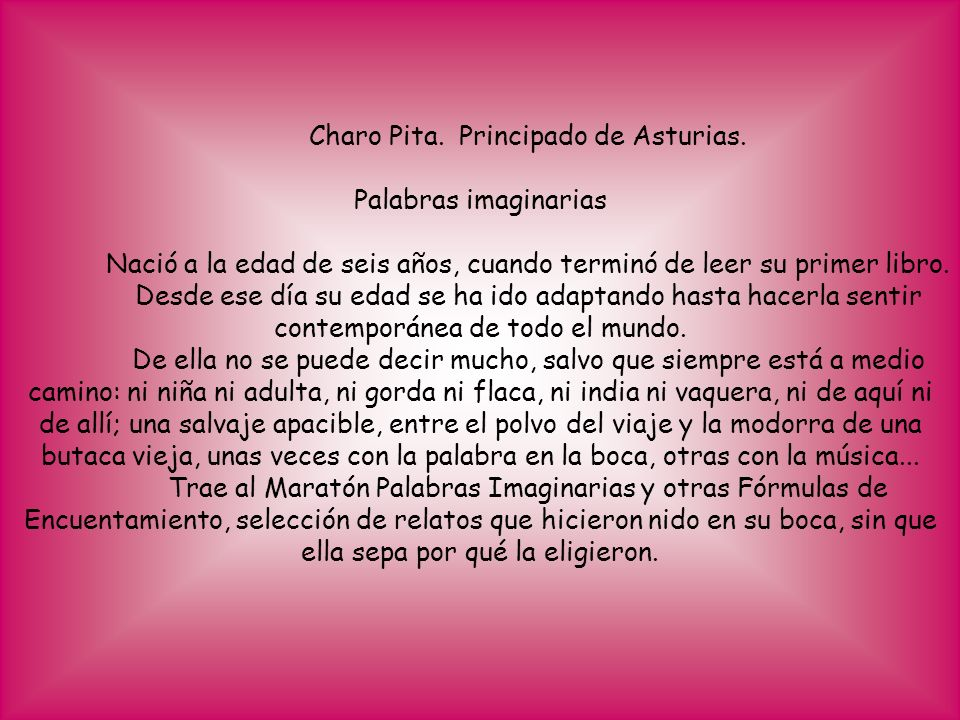 Charo Pita. Principado de Asturias.