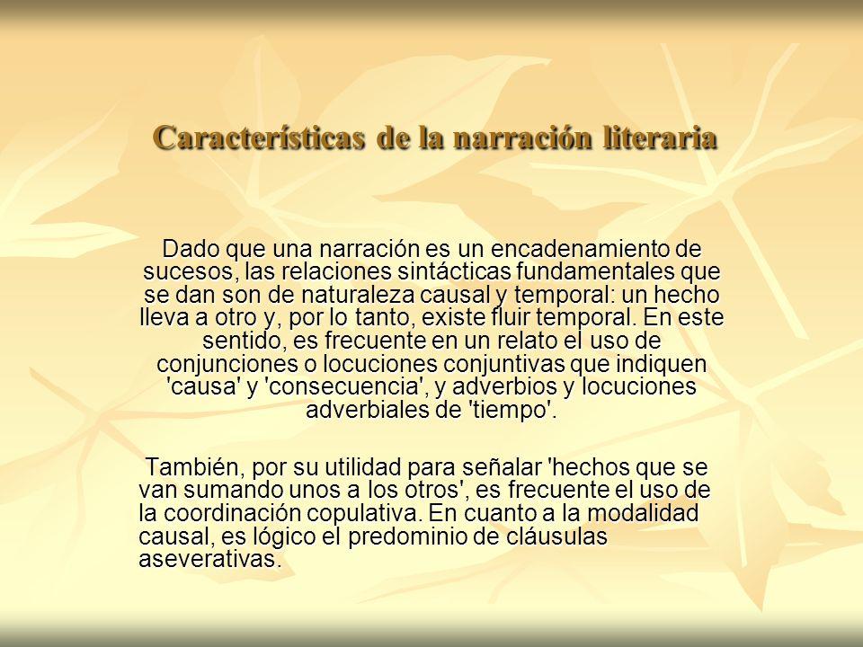 Características de la narración literaria