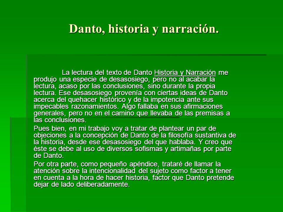 Danto, historia y narración.