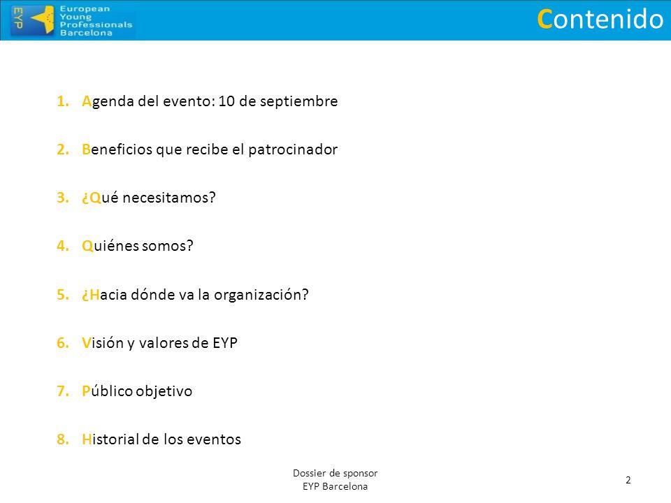 Contenido Agenda del evento: 10 de septiembre