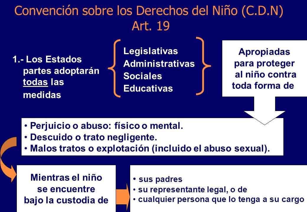 Convención sobre los Derechos del Niño (C.D.N) Art. 19