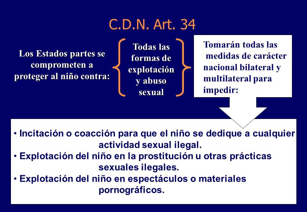 C.D.N. Art. 34 Tomarán todas las
