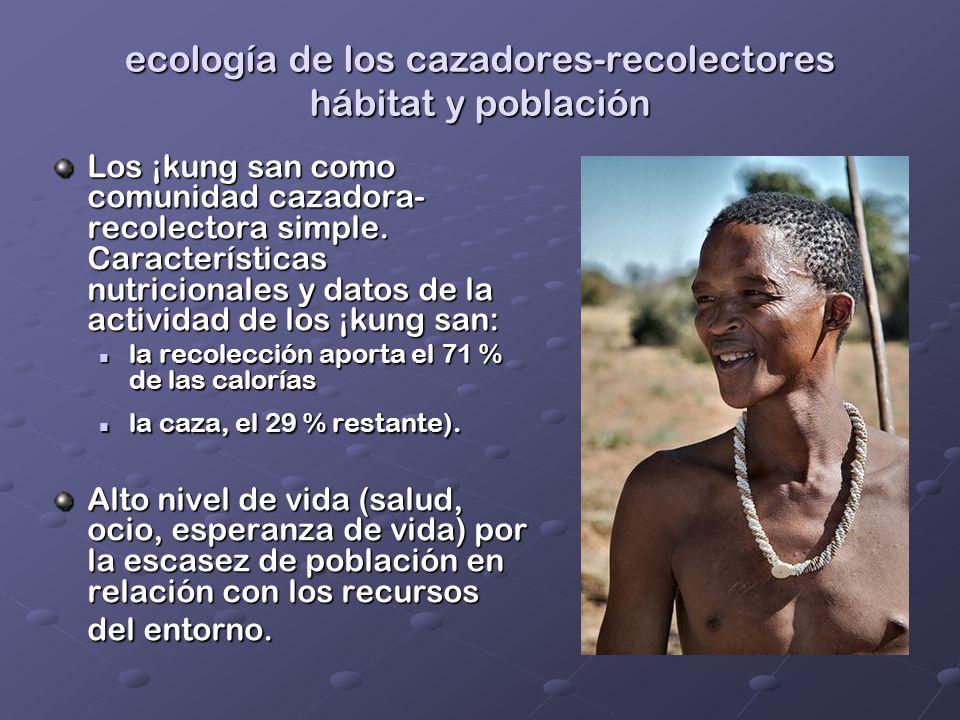 ecología de los cazadores-recolectores hábitat y población