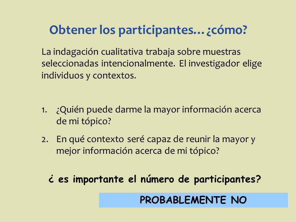 Obtener los participantes…¿cómo