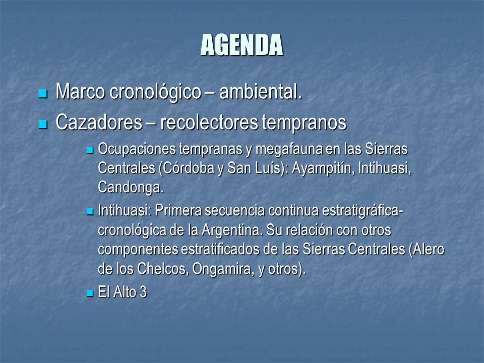 AGENDA Marco cronológico – ambiental.