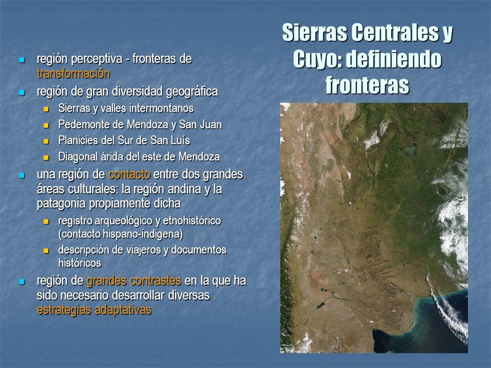 Sierras Centrales y Cuyo: definiendo fronteras