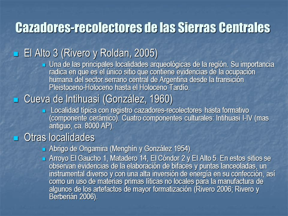 Cazadores-recolectores de las Sierras Centrales