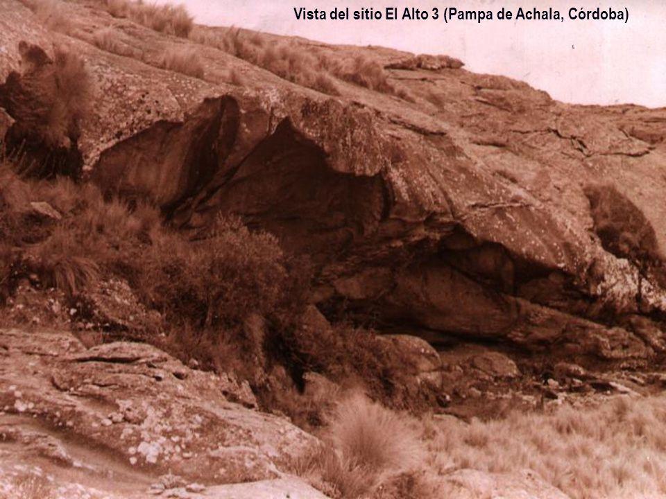 Vista del sitio El Alto 3 (Pampa de Achala, Córdoba)