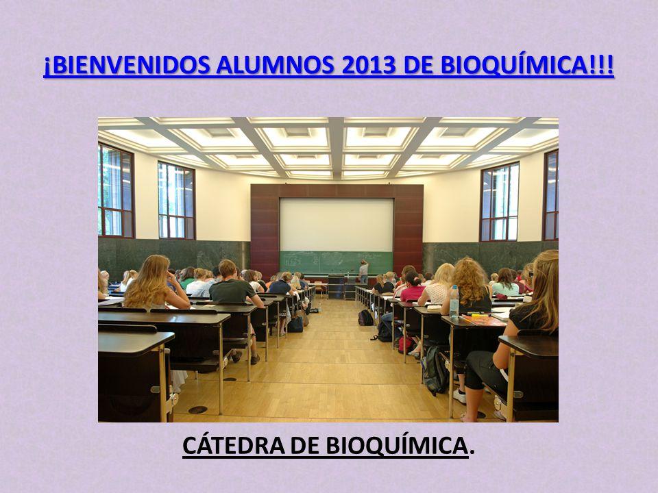 ¡BIENVENIDOS ALUMNOS 2013 DE BIOQUÍMICA!!!