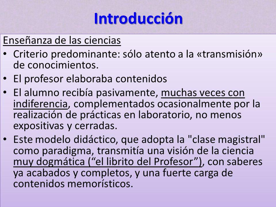 Introducción Enseñanza de las ciencias