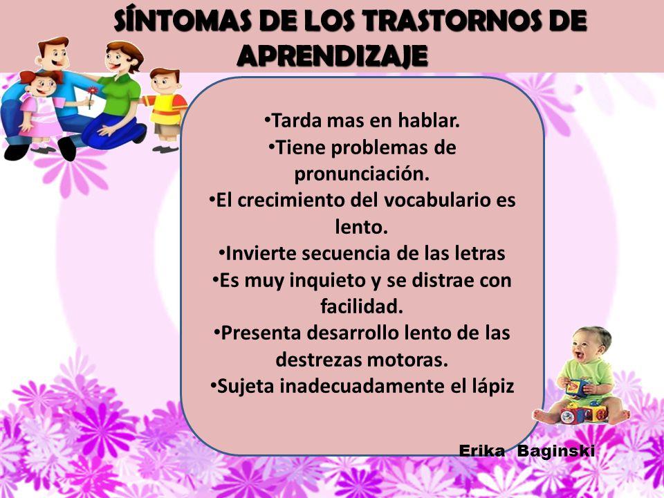 SÍNTOMAS DE LOS TRASTORNOS DE APRENDIZAJE