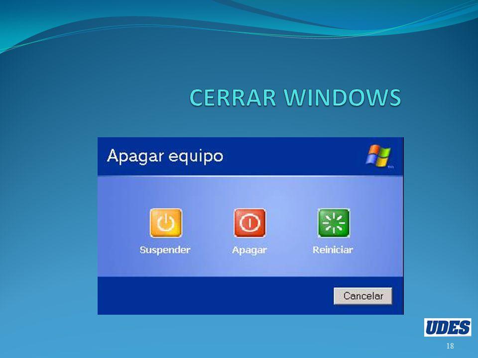 CERRAR WINDOWS