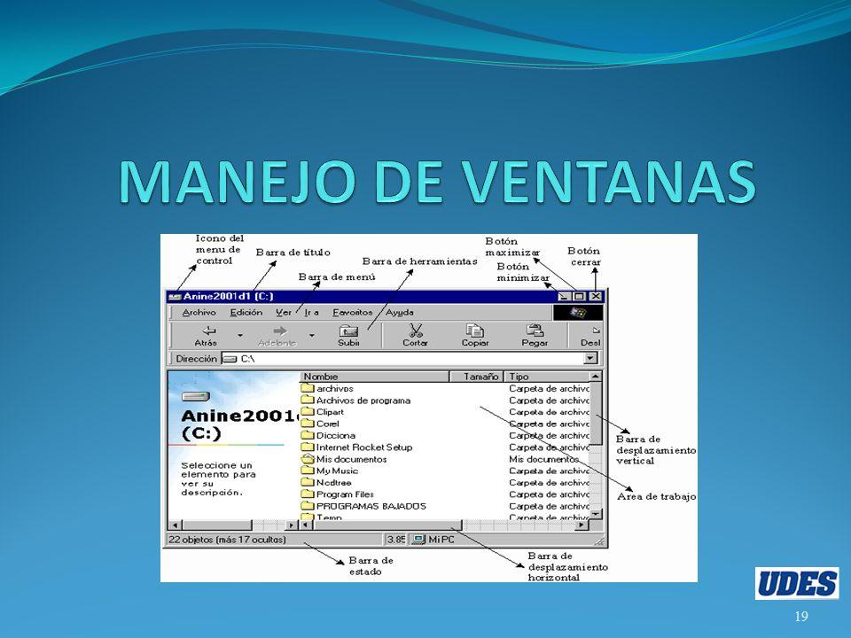 MANEJO DE VENTANAS