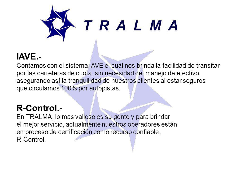 T R A L M A IAVE.- R-Control.-