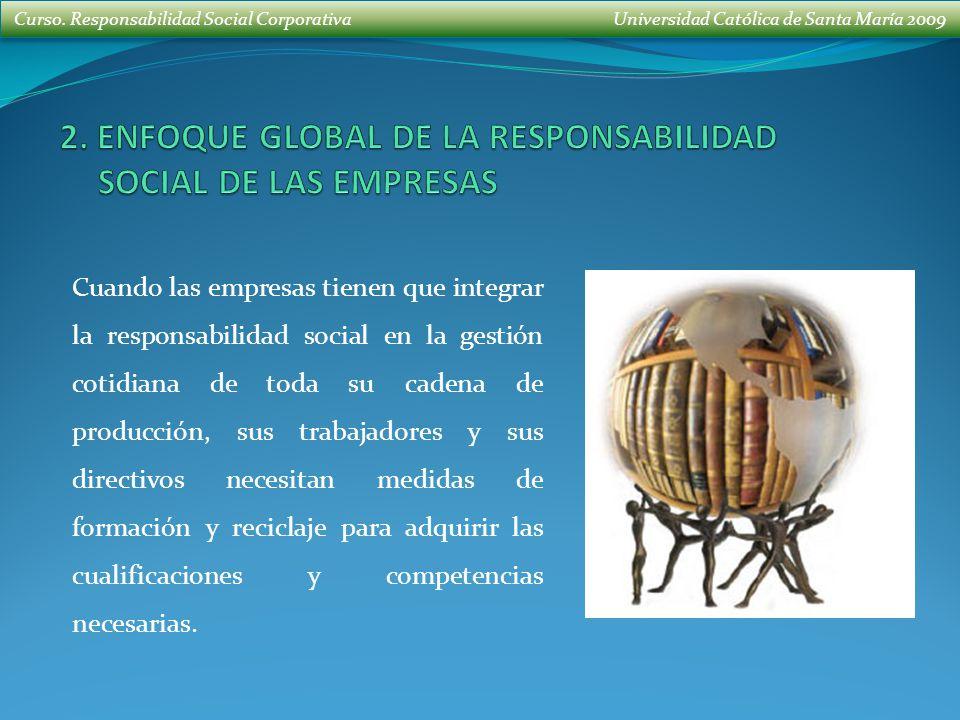2. ENFOQUE GLOBAL DE LA RESPONSABILIDAD SOCIAL DE LAS EMPRESAS