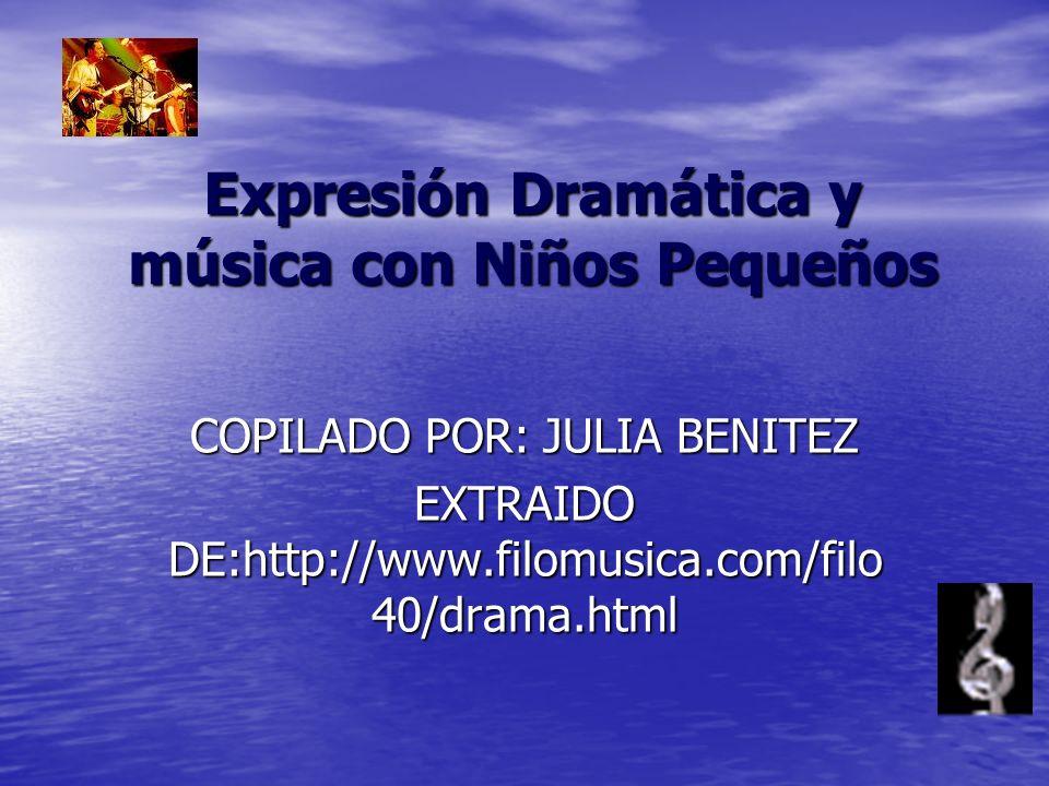 Expresión Dramática y música con Niños Pequeños