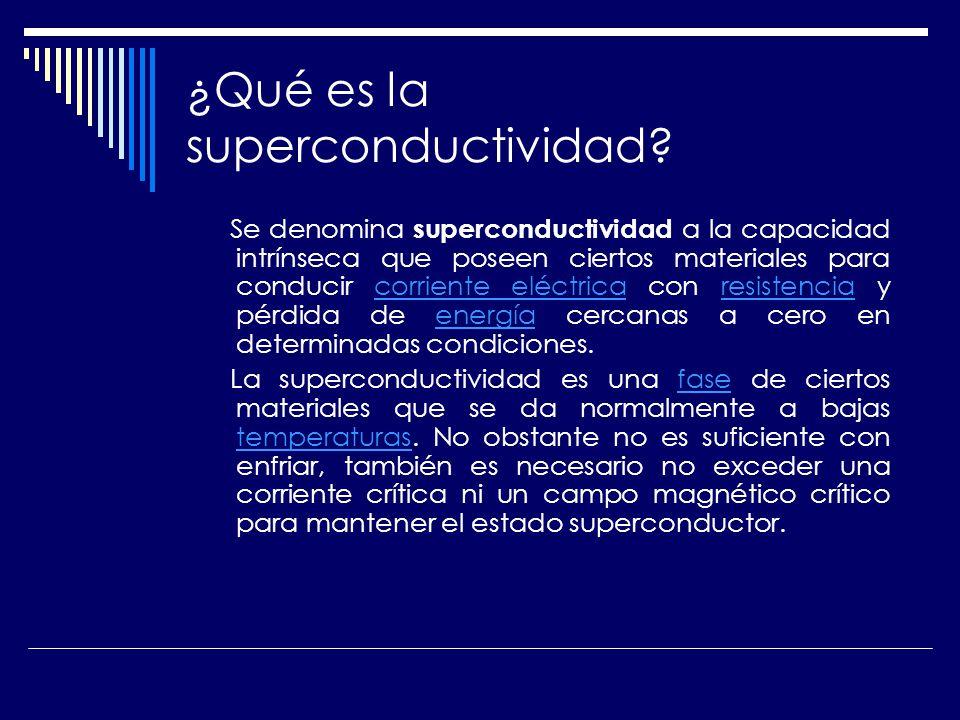 ¿Qué es la superconductividad