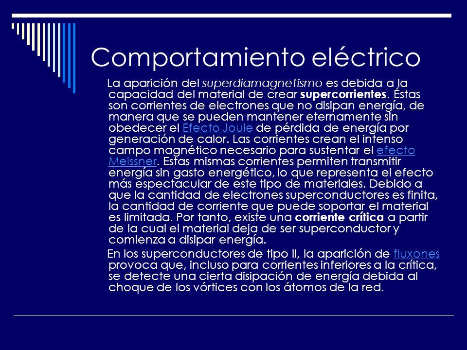 Comportamiento eléctrico