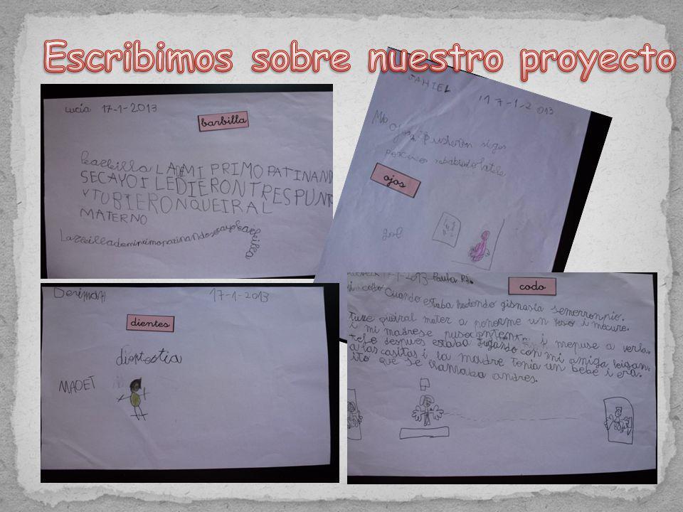 Escribimos sobre nuestro proyecto