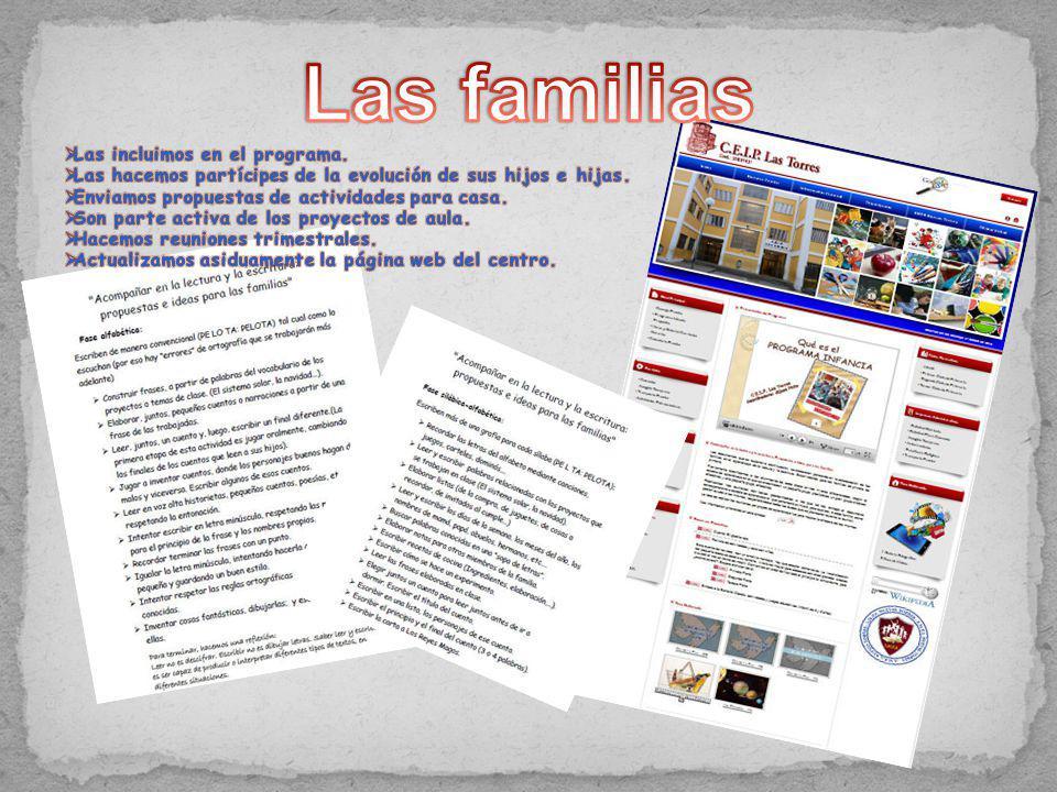 Las familias Las incluimos en el programa.