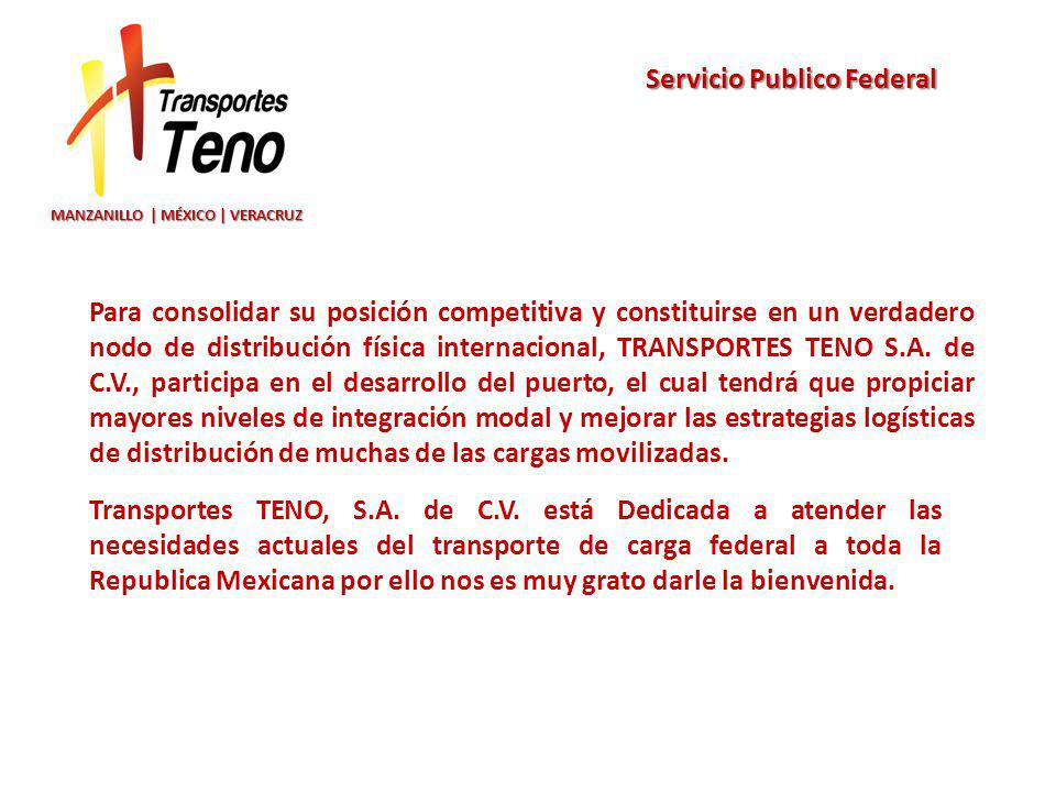 Servicio Publico Federal MANZANILLO | MÉXICO | VERACRUZ