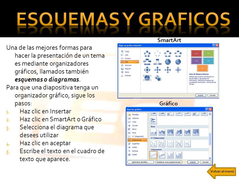 esquemas y graficos SmartArt.