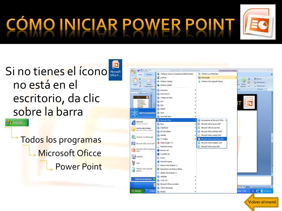 CÓMO INICIAR POWER POINT