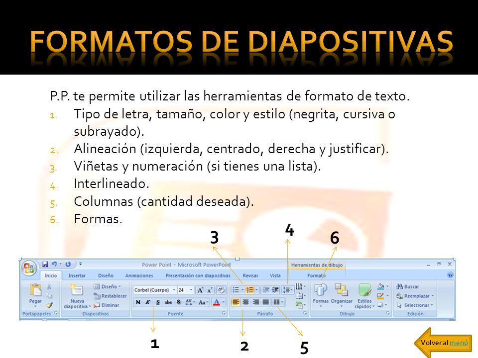 Formatos de diapositivas